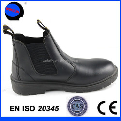 Steel toe cap pull up safety boots 2015 men genuine leather safety boots