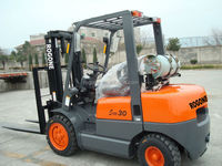 toyota engine 1ton LPG & gas forklift trucks man lift material handing equipment for sales with Nissan engine and good price