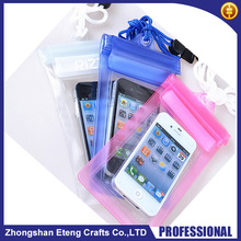 Best popular custom PVC waterproof pouches for mobile phones