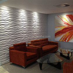 High quality colorful paintable oil decorative 3d wall art panel plant fiber