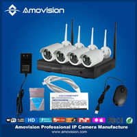 High Quality 4CH H.264 CCTV Wifi IP Camera NVR Kit Used for Indoor and Outdoor