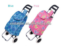 Easy carry foldable shopping trolley bag,ladies trolley tote bag