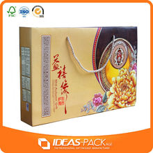 custom design luxury large size corrugated carton moon cake gift box