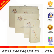 custom made wholesale recycle logo printed matte laminated cute luxury gift shopping paper bag