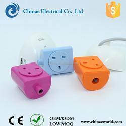 China innovative red dot reward energy saving products usb uk/universal socket asb/pc shell