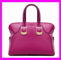 JD893 Latest multifunction purple hard leather handbag Tote lady hand bag