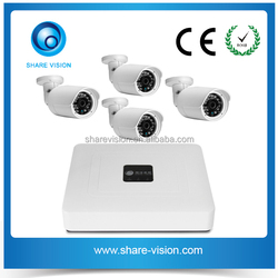 4ch 720p/960p outdoor indoor home security system poe nvr kit