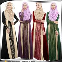 2015 New Design Long Sleeve Abaya Style Muslim Women Long Dress