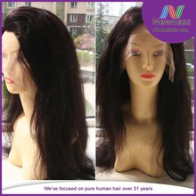 No tangle no shed virgin remy brazilian natural hair wig for men