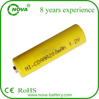 ni-cd aa 200mah 1.2v rechargeable batteries nicd aaa 200mah for solar light
