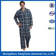 Wholesale 2015 On sale collar plaid print long sleeve + pants Cheap sleeping suits men leisure wear pajamas sets