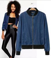 EY0675A mature women denim cheap fleece jacket with your own design