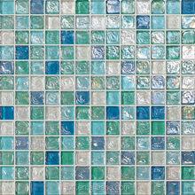 luster glazed glass mosaic pattern
