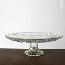 De vidro transparente placas de frutas tigela de doces de vidro limpar fruta ou salada tigela