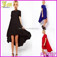 2015 Fashion New Chiffon High Low Beach Party Prom Short Apparel Dress For Women