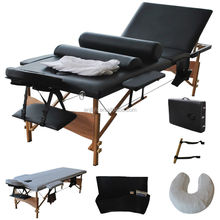 3 section cheap wooden massage bed with accessory set