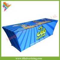 Fast Delivery of 6ft/8ft custom design printed stretch table cloth