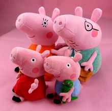 4 x Peppa Pig Family Plush Stuffed Toy Doll Peppa Pig Toys
