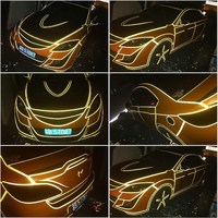 Free shipping top fashion 1CMx45.7M reflective car stickers car reflective film for car and motorcycle decorative