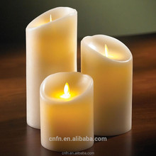 2015 wholesale luminara moving wick candles,paraffin wax led candle light with vanilla scents