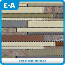 Wholesale Home Decor Items Decorative Brand New Crystal Glass Stone Mosaic Tiles
