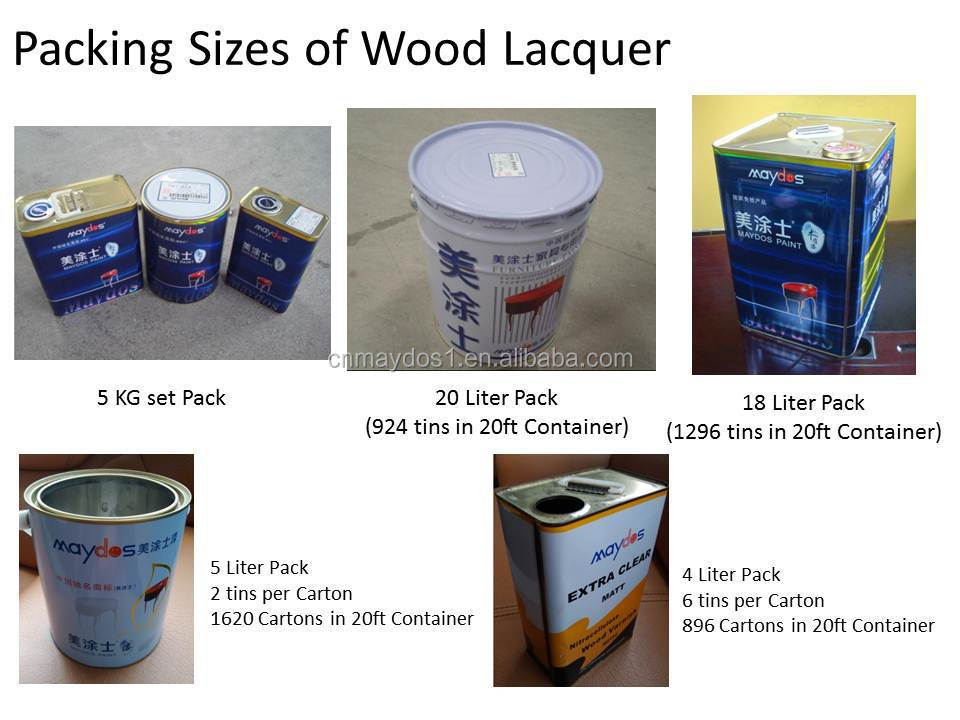 Packing Size Of Wood Lacquer