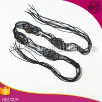 Hot sell fashion custom braided beaded western belts WFT24