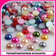 wholesale flat pearl beads/flat Acrylic pearl beads/flat ABS pearl