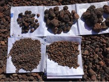 conserves the soil enhances soil ecology and stabilizes crop yield by lava stones