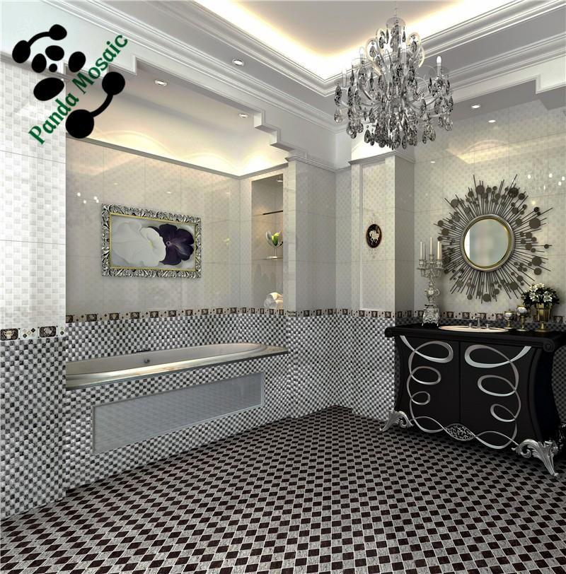 Mb sms10 decoratieve wand tegel groothandel glasmoza ek badkamer tegel zwart en witte gebarsten - Deco toilet zwart ...