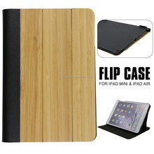Unbreakable Protective Custom Leather Bamboo Wood For Ipad Case