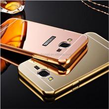 Aluminum Chrome Mirror Pull Push Hybrid Case For Samsung Galaxy A8 A8000/A7 A7000/A5 A5000/A3