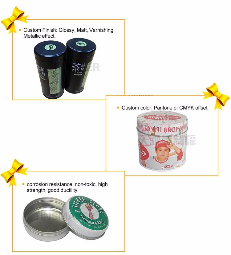 1 OZ, 2 OZ, 4 OZ stock ouro parafuso top latas