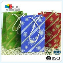 style hot stamping gift paper bags good woven cotton shopping paper bags