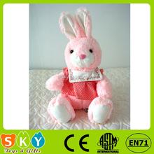 wholesale cute plush soft stuffed animal girl baby toy rabbit with skirt