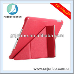Wholesale price leather cover folding mobile phone case for ipad air
