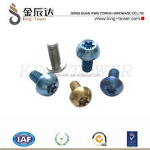 stainless metric anodized s truss socket head screws with bright color