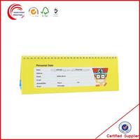 Cardboard insert photo calendar wholesale in shanghai