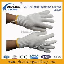 White Cotton Yarn Work Gloves/High Quality Welding Gloves/Safety Working Gloves