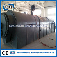 Continuous crude oil/used engine oil/oil sludge pyrolysis plant to get fuel oil