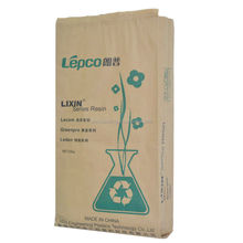 side gusset plastic compound kraft paper bag 25kg Kraft paper sack with pp woven film for plastic raw material