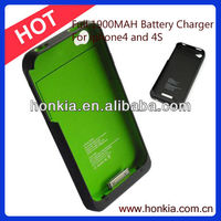 Low Price Full1900mAh Cell Phone Battery External Power Bank Battery Charger for Iphone4/4S