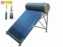 Compact pressurized solar water heater current collector