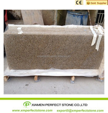 Edges flat polished G682 sunset gold granite kitchen countertops
