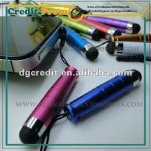 2012 Cool 2 in 1 slim multi stylus touch pen with dust cap for mobile phone