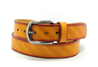 fashion yellow genuine leather belt for men 2015 YJ-F0159