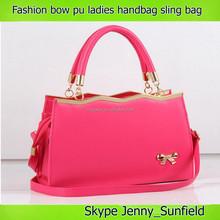 Fashion cute bow pu sling ladies handbag ladies bag 2015