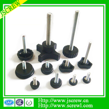 China custom zinc plated plastic head steel knurled thumb screw