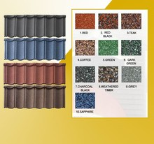 Metal roofing sheet tiles/sand coated metal roofing philippines
