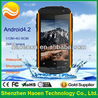 China Original unlocked Rugged Mobile Phones!! 3.5inch Cheap Rugged Android Phone with Dual SIM, 3G WIFI, GPS, Military Grade